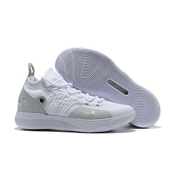 Nike Kd 11 White/gray/silver Basketball Shoe Size 40 46 | Best Deal Online