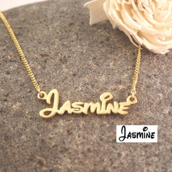 Disney Font necklace - Personalized Name Necklace- Children Necklace- Name necklace- Initials Necklace- Bridesmaid Gift- Mother Gift