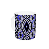 "Dawid Roc ""Inspired By Psychedelic Art 3"" Purple Abstract Ceramic Coffee Mug"