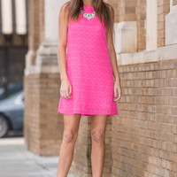 Shift On Over Dress, Hot Pink