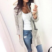 Long Sleeve Loose Fit Cardigan