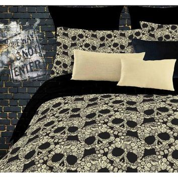Street Revival Flower Skull Full-size 6-piece Bed in a Bag with Sheet Set | Overstock.com Shopping - The Best Deals on Teen Bed in a Bags