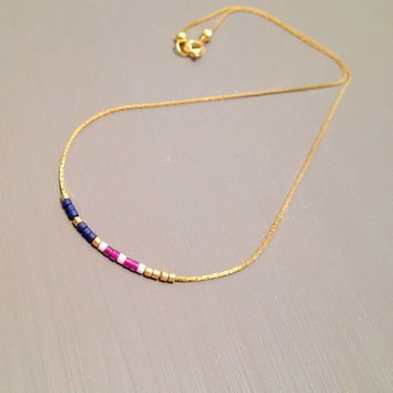 dainty gold necklace dainty necklace minimalist necklace bead delicate necklace