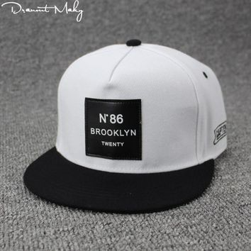 Trendy Winter Jacket 2018 Fashion Men Womens BROOKLYN Letters Solid Color Patch Baseball Cap Hip Hop Caps Leather Sun Hat Snapback Hats brooklyn N86 AT_92_12