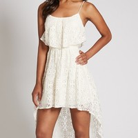Donelle High-Low Lace Dress | GbyGuess.com