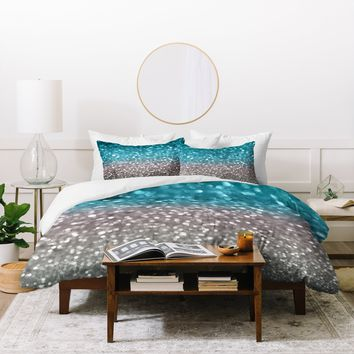 Lisa Argyropoulos Aqua And Gray Duvet Cover