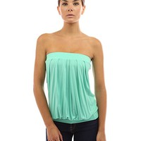 Women's Pleated Tube Top