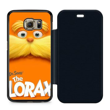 Dr Seuss Lorax Face Leather Wallet Flip Case Samsung Galaxy S6