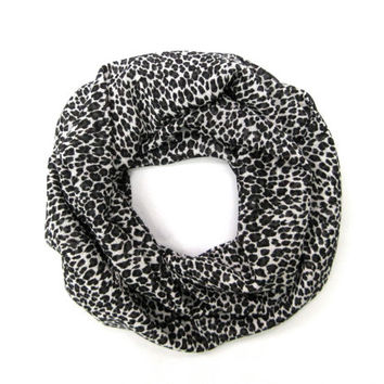 Toddler Scarf Leopard Scarf Cute Girls Scarf Childs Scarf Kids Lightweight Scarf Black Brown White Cute Gift Ready To Ship