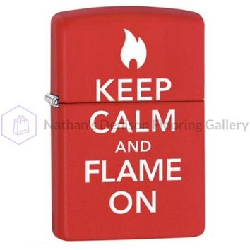 Zippo Keep Calm and Flame On Lighter 28671