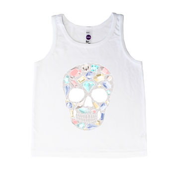 Diamond Sugar Skull - Tank