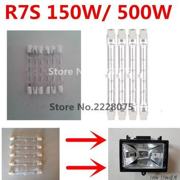 78mm 118mm High Quality Halogen Lamp J78 J118 150W 500W R7S Double Ended Filament Flood Lights Quartz Tube Warm White AC220-240V