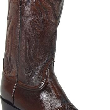 Lucchese Heritage Mens Antique Walnut Lone Star Calf Leather Western Cowboy Boots T3099