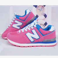 New balance abric is breathable n leisure sports Couples forrest gump running Pink