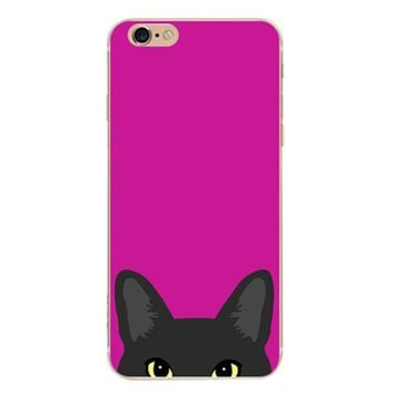 Rose Red Cat Case Cover for iPhone 6 6s Plus iPhone 7 7plus + Gift Box-461-170928