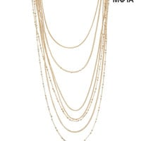 Aeropostale Womens Layered Long-Strand Necklace - Yellow, One