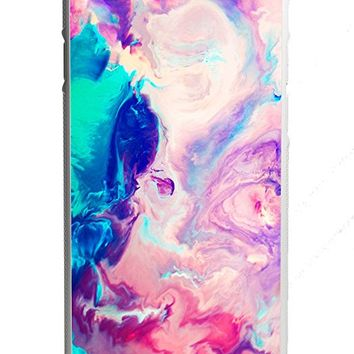 Colorful Pink Marble Watercolor iPhone 6/6s Case White