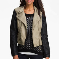 Research & Design Two Tone Faux Leather Jacket | Nordstrom