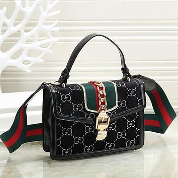 GUCCI Women Fashion Leather Crossbody Shoulder Bag Handbag Satchel