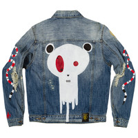 Posh Denim Distressed Jacket by Drippy, Limited Series