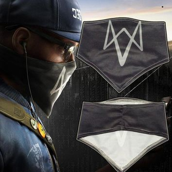 Watch Dogs 2 Dedsec Aiden Marcus Mask Face Muffle Cosplay Scarf Wrap Halloween Outdoor sports Bicycle mask