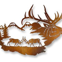 Laser Cut Metal Wall Art Elk