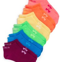 Girl's Under Armour No Show Liner Socks , Size Large