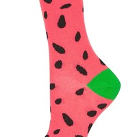 Topshop Watermelon Ankle Socks