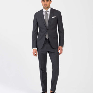 The Mayfair White Label Suit in Grey Plaid