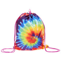 Rainbow Tie Dye Drawstring Backpack