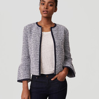Petite Tweed Bell Sleeve Jacket | LOFT