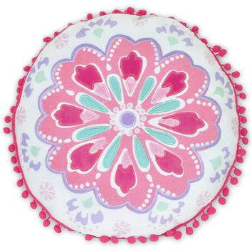 Better Homes and Gardens Kids Round Medallion Pillow Multicolor Standard