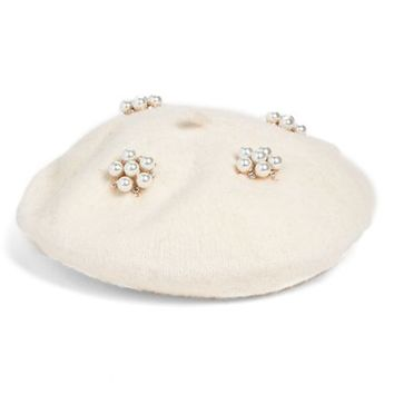 Berry Faux Pearl Beret | Nordstrom
