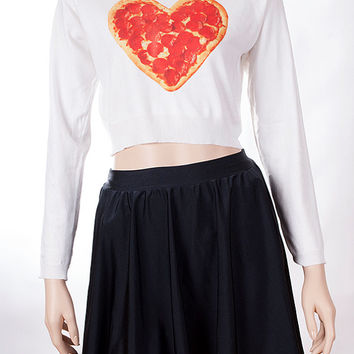 Pizza Lover Cropped Sweater
