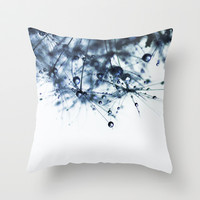 ink blue Throw Pillow by ingz
