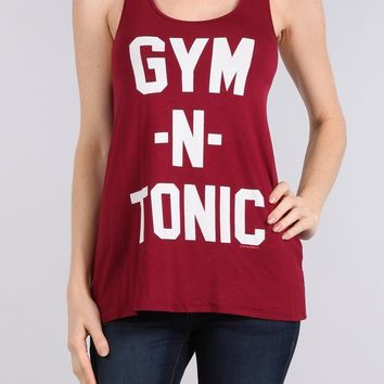 Gym and Tonic Graphic Racerback Tank Top