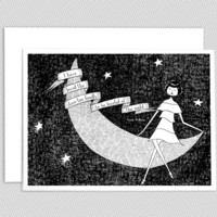 I have loved the stars too fondly note card