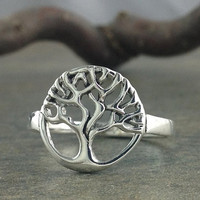 Tree of Life Ring~Tree of Life Sterling Silver Ring~Celtic Tree of Life Ring~Family Tree Sterling Ring