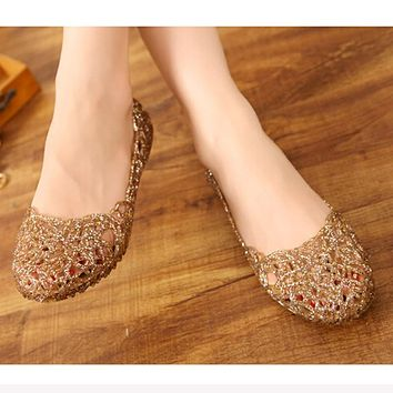 Women's Sandals 2016 New Summer Women Shoes Casual Jelly Tenis Feminino Mesh Flats Sandalias Femininas Fashion Women Sandals