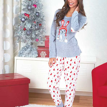 Bunny Women's Cuddly Critters Loungewear Sets