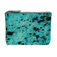 Bailey - Cowhide Leather Pouch - Capri