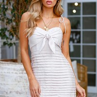 Talking About Details Dress Beige