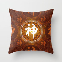 Mandala Style Pattern - God Throw Pillow by danzakuo