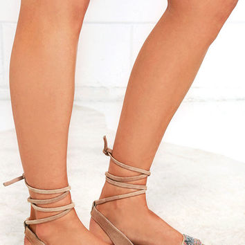 Steve Madden Shaney Blush Multi Leather Beaded Sandals
