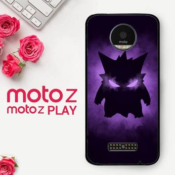 Pokemon Gengar X4495  Motorola Moto Z Play Case
