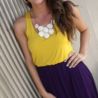 Purple & Gold Racerback Dress | The Rage