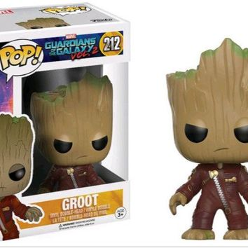Funko - POP! Guardians of the Galaxy Baby Serious Angry Groot Figure 212 a F01