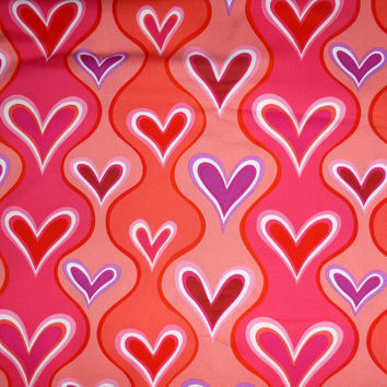 "Valentine Fabric ""Wavy Hearts"" by Hallmark Occasions for Free Spirit of Westminster Fabrics, By the Yard, 43/44 inches Wide"