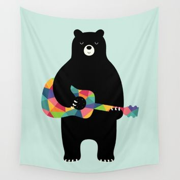 Happy Song Wall Tapestry by Andy Westface