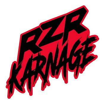 "RZR Karnage Logo 5"" Laminated Sticker 3 Colors Grey, Red, Orange"